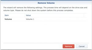 synology remove volume1