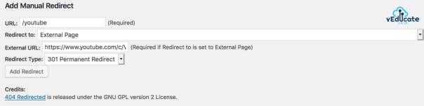 wordpress redirect2