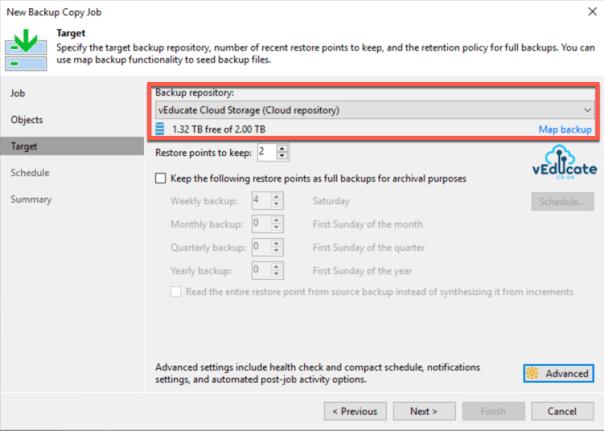 Veeam Backup for Azure Integration with Veeam Backup and Replication Backup Copy Azure IaaS New Job Target Backup Repository