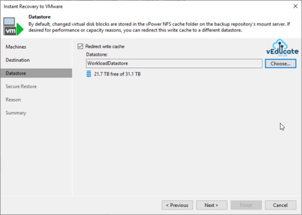 Veeam Backup for Azure Integration with Veeam Backup and Replication Instant VM Recovery Datastore
