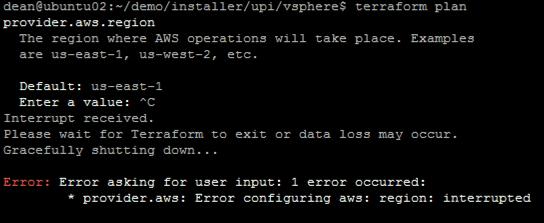 Deploy OpenShift VMware Static IP Terraform DNS error