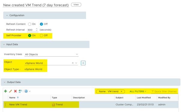 Create Dashboard Total VMs Deployed Edit Trend View