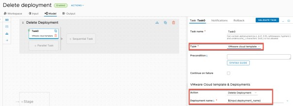 vRA Deploy Tanzu Guest Cluster - Code Stream - Pipeline - Delete Deployment - Configuration view