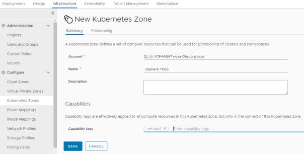 New Kubernetes Zone - Add Kubernetes zone