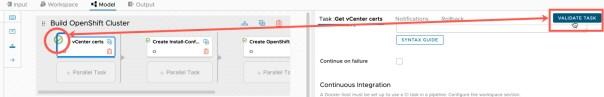 vRA Deploy Openshift - Code Stream - Model - Validate Task