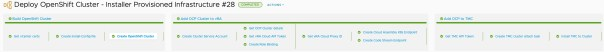 vRA Deploy Openshift - Completed Pipeline execution