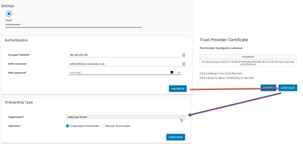 Data Management for Tanzu - Agent onboarding - Authenication - Onboarding Type