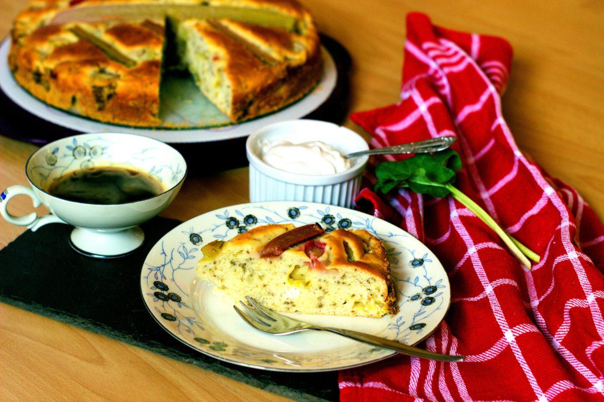 [:de]Obstkuchen Rhabarber - vegan[:en] fruit pound cake rhubarb- vegan[:]