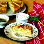 fruit pound cake rhubarb– vegan