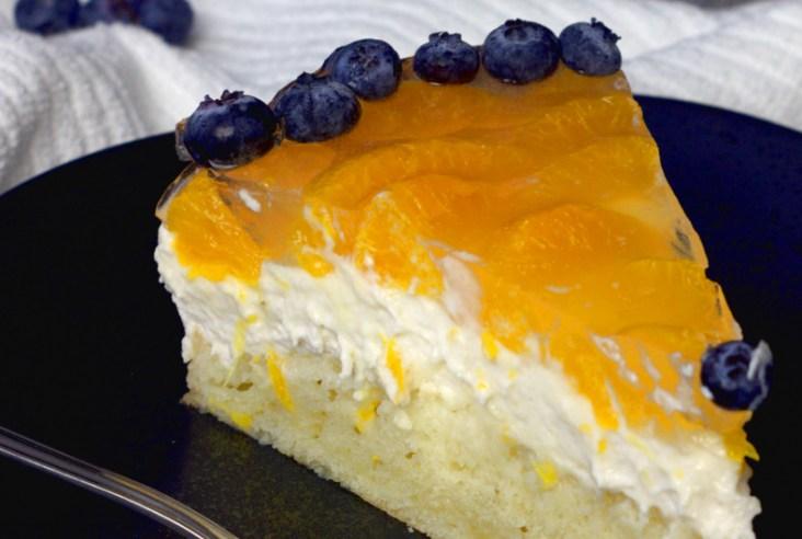 unbaked mandarin cheesecake