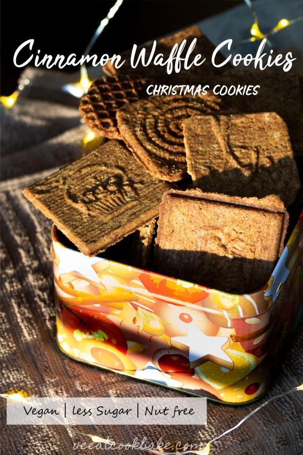 cinnamon waffel cookies christmas