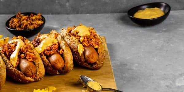 vegan chili cheese dog