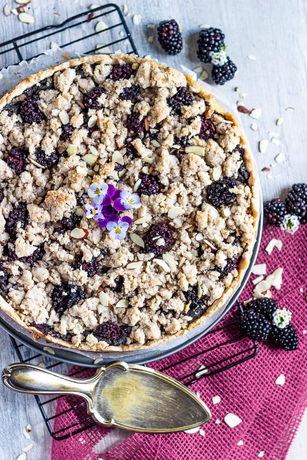 blackberry poppy seed crumb cake - streuselkuchen vegan