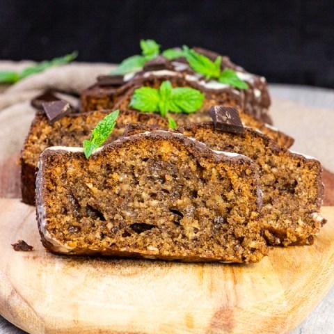 Vegan Mint Chocolate Cake with Hazelnuts