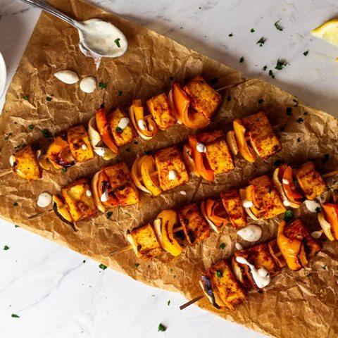 Vegane Tofu Grillspieße