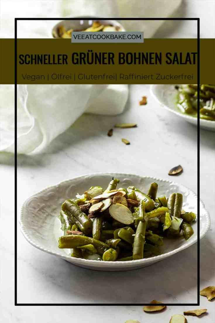 wie man einen schnellen grünen Bohnensalat macht. Dieser ölfreie grüne Bohnensalat ist in wenigen Minuten gezaubert. Machen Sie diesen grünen Bohnensalat für Ihre nächste Grillparty oder als Ihre nächste vegane Beilage. milchfrei, Vollwertkost auf pflanzlicher Basis, wfpb, vegetarisch #veganersalat #grünebohnen