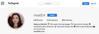 """Biografía profesional de Miss604 en Instagram """"width ="""" 690 """"height ="""" 241 """"style ="""" width: 690px; """"srcset ="""" https://blog.hubspot.com /hs-fs/hubfs/miss604-instagram-professional-bio.png?t=1525919548075&width=345&height=121&name=miss604-instagram-professional-bio.png 345w, https://blog.hubspot.com/hs-fs/ hubfs / miss604-instagram-professional-bio.png? t = 1525919548075 & width = 690 & height = 241 & name = miss604-instagram-professional-bio.png 690w, https://blog.hubspot.com/hs-fs/hubfs/miss604-instagram -professional-bio.png? t = 1525919548075 & width = 1035 & height = 362 & name = miss604-instagram-professional-bio.png 1035w, https://blog.hubspot.com/hs-fs/hubfs/miss604-instagram-professional-bio. png? t = 1525919548075 & width = 1380 & height = 482 & name = miss604-instagram-professional-bio.png 1380w, https://blog.hubspot.com/hs-fs/hubfs/miss604-instagram-professional-bio.png?t=1525919548075&width = 1725 y altura = 603 & name = miss604-instagram-professional-bio.png 1725w, https://blog.hubspot.com/hs -fs / hubfs / miss604-instagram-professional-bio.png? t = 1525919548075 & width = 2070 & height = 723 & name = miss604-instagram-professional-bio.png 2070w """"sizes ="""" (max-width: 690px) 100vw, 690px"""