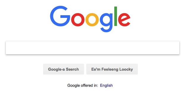 Bork, bork, bork! configuración de idioma en Google