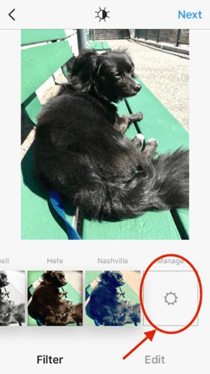 """Pantalla donde puede administrar los filtros de Instagram """"title ="""" Pantalla donde puede administrar los filtros de Instagram """"width ="""" 300 """"style ="""" width: 300px"""