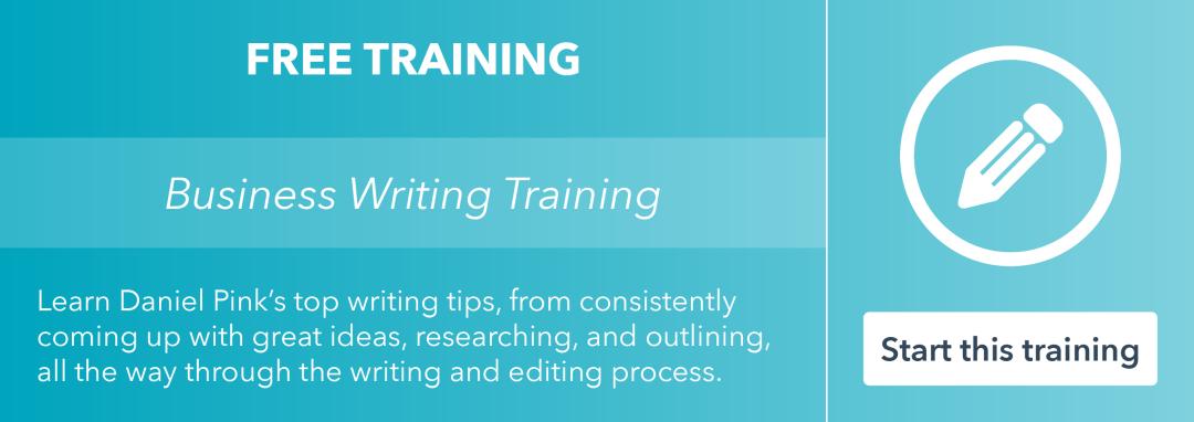 Toma la capacitación gratuita en escritura empresarial por HubSpot Academy