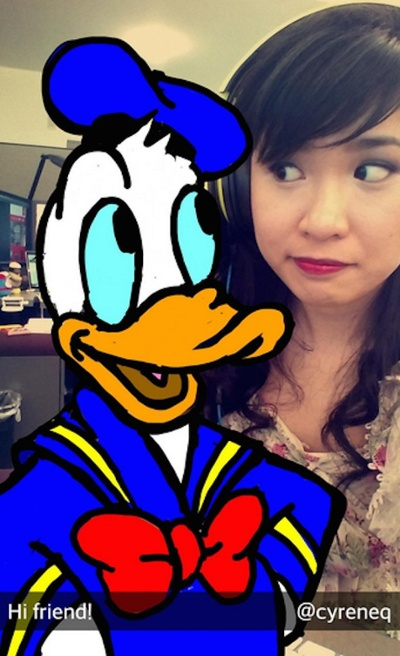 Increíble dibujo de Snapchat de Donald Duck