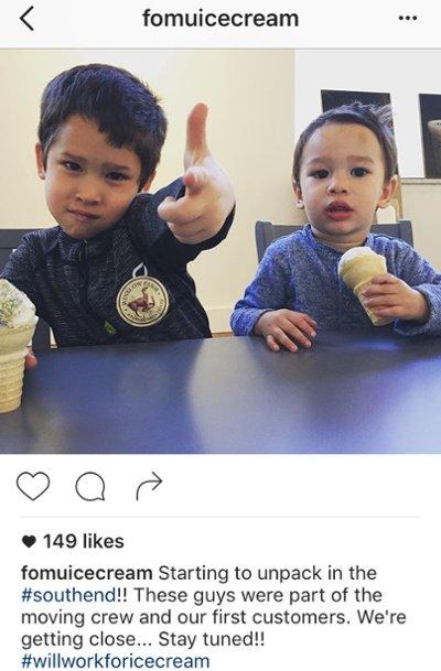 "Título de Instagram con dos hashtags de FOMU Ice Cream ""title ="" fomu-funny-instagram-hashtag.jpg ""width = ""400"" style = ""width: 400px"