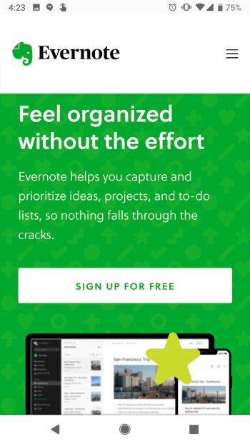 evernote-mobile-website
