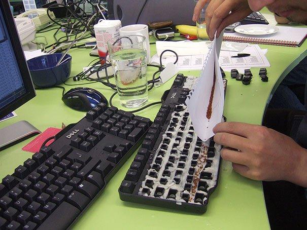 """Semillas en el teclado """"width ="""" 669"""