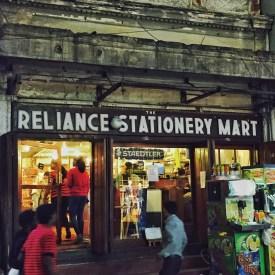 amazing stationery shop on commercial street. bangalore, india. august 2015.