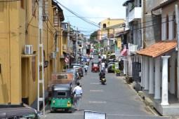 street scene inside the fort. galle, sri lanka. september 2015.
