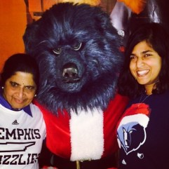we got our picture with santa grizz! memphis, tennessee. december 2014.
