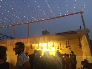 terrace at dusk.