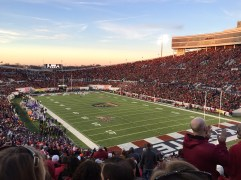 a liberty bowl sunset. memphis, tennessee. january 2016.