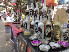 upcycled bottles with your favourite musicians. bangalore, india. january 2016.