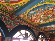 colorful artwork at doma's. mussoorie, india. may 2016.