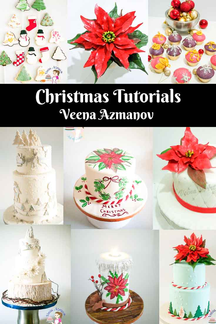 Christmas Cookie Decorating With Fondant Tutorial Video