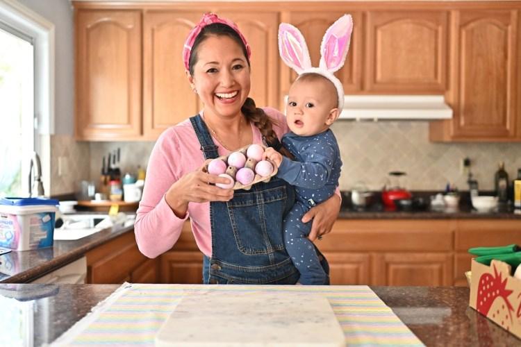 Tie Dye Shaving Cream Easter Eggs