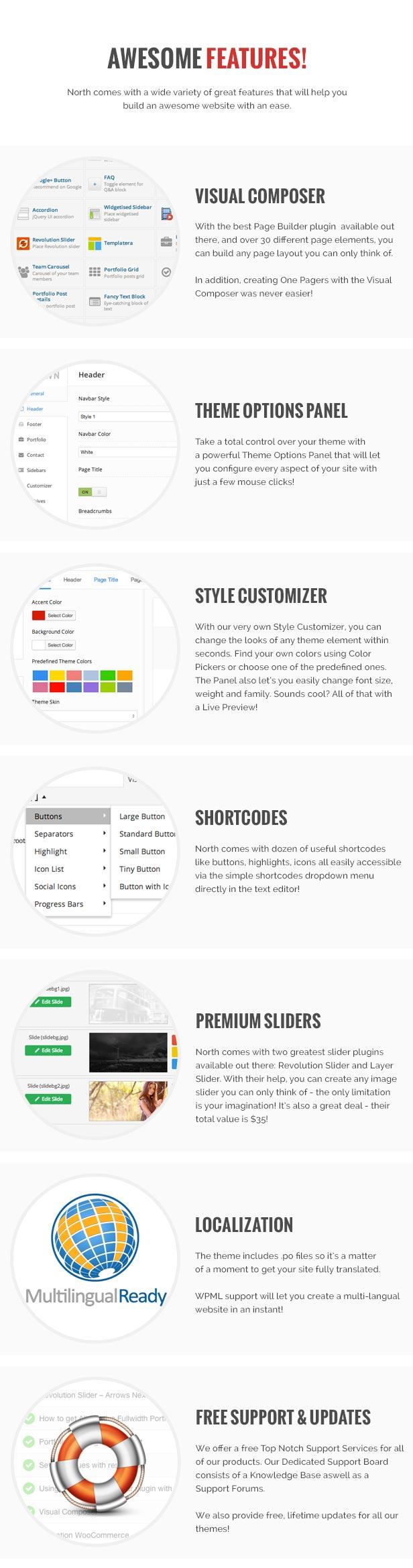 North - One Page Parallax WordPress Theme - 11
