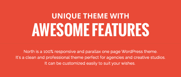 North - One Page Parallax WordPress Theme - 2
