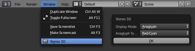 Blender tutorial render stereo 3D
