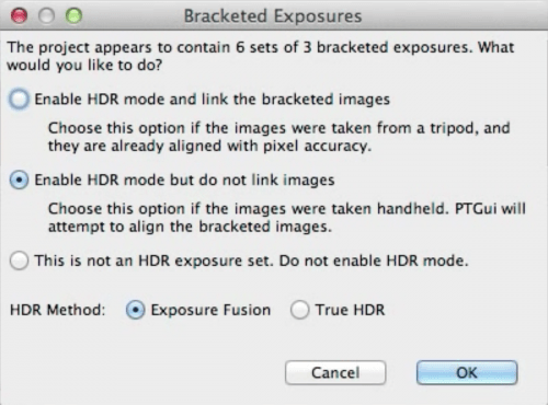 HDR-settings