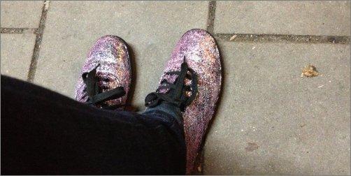 DIY glitterschoenen