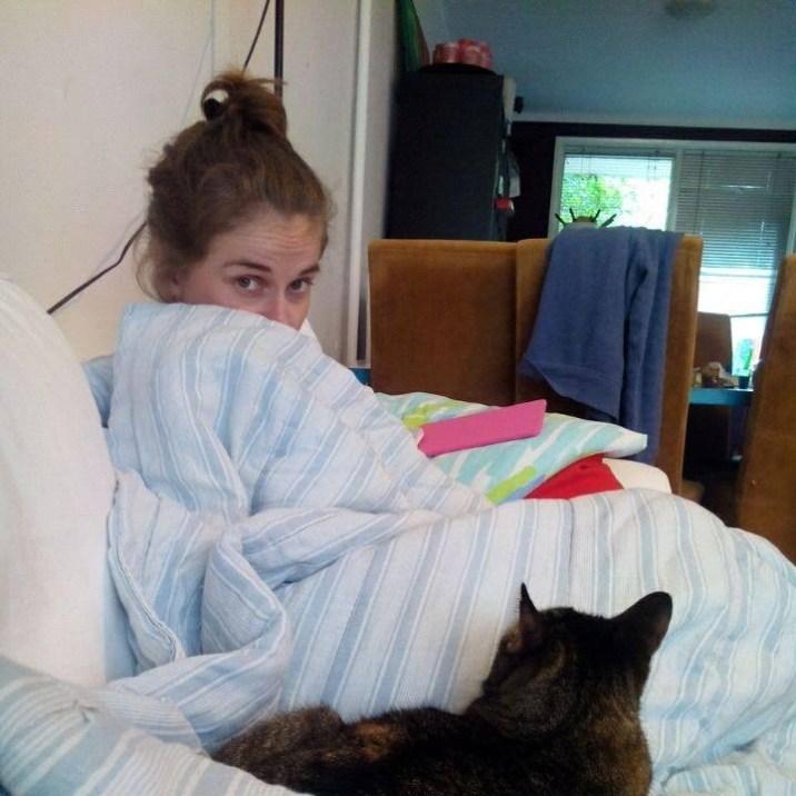 veerlez with cat