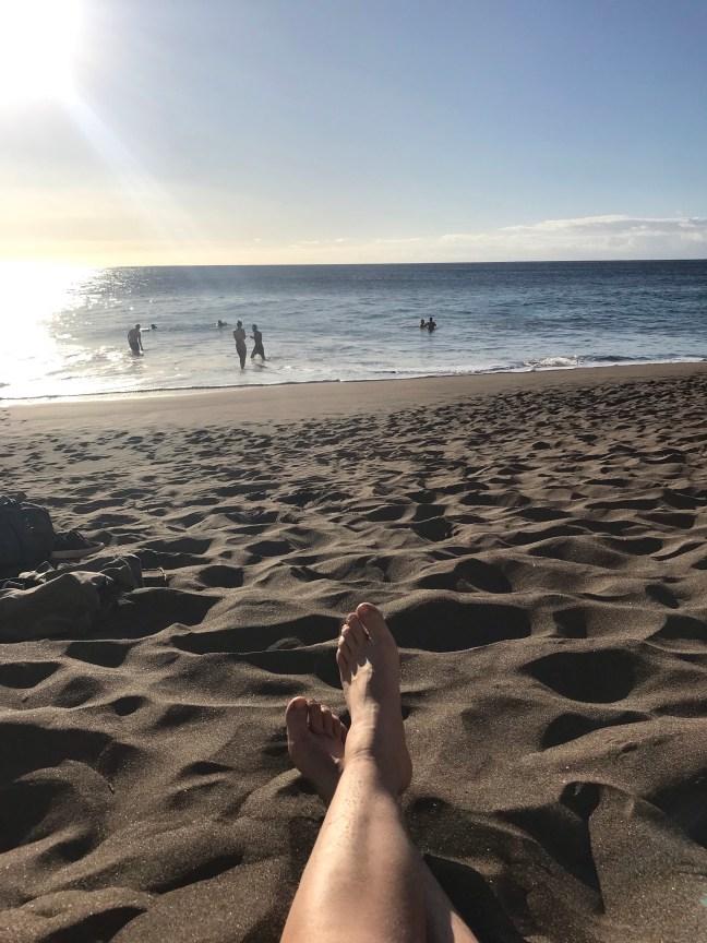 strand in het noord westen van Gran Canaria