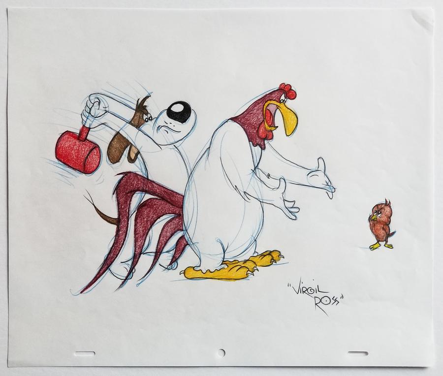 Virgil Ross Foghorn Leghorn Drawing Id Janvirgil18644 Van Eaton Galleries