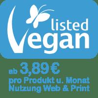 Vegan-Label ab 3,89 EUR pro Monat