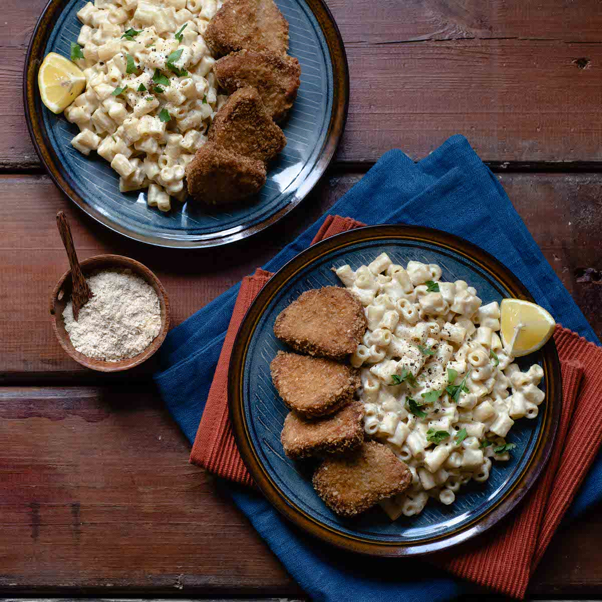 Nuggets με Vegan Mac & Cheese