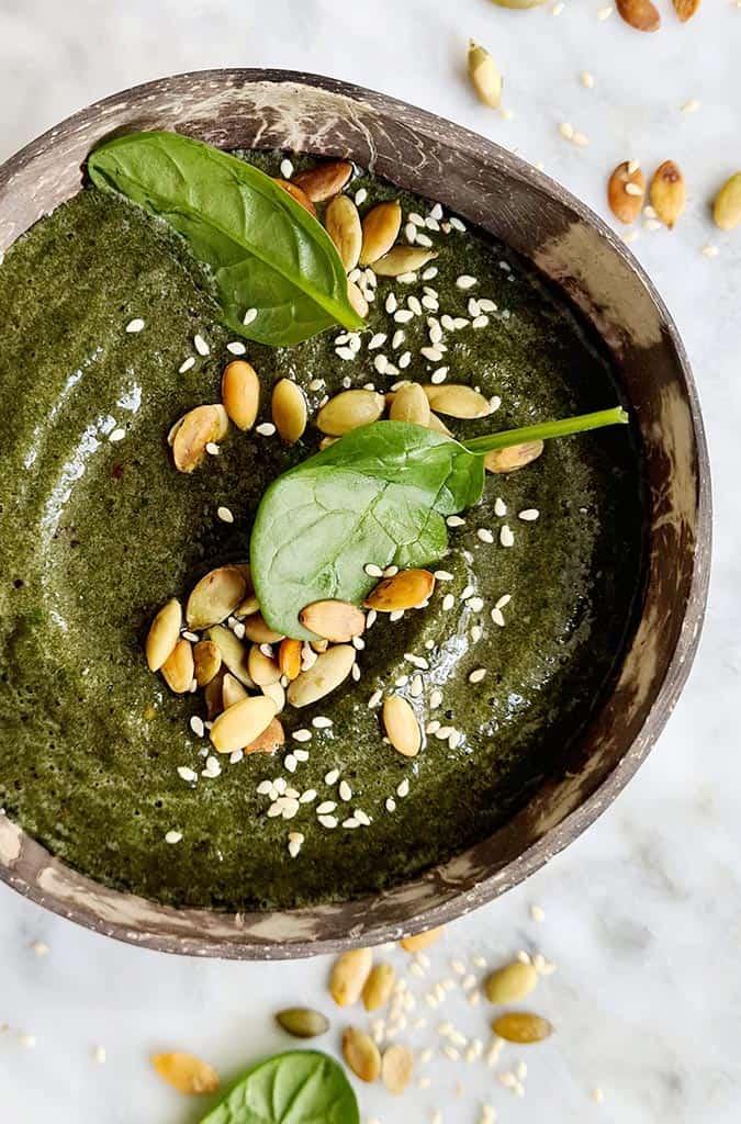 Energie smoothie met spinazie en appel