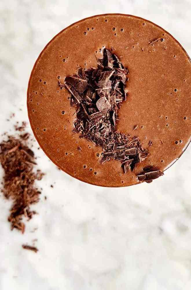Chocolade milkshake vegan