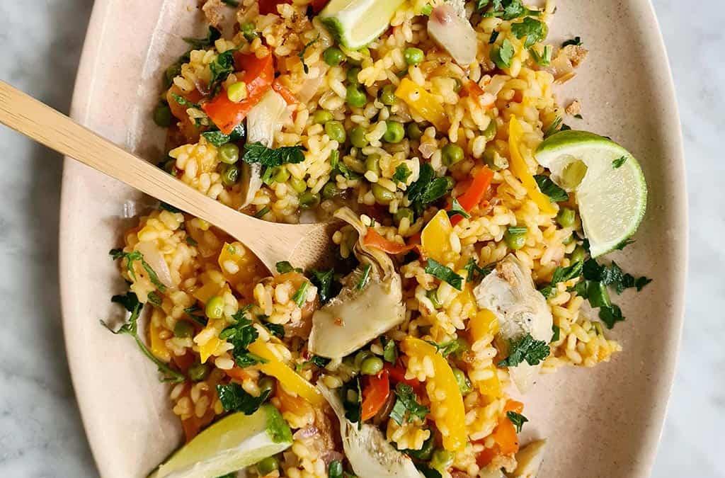 Vegan paella recept